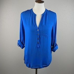 Apt 8 Royal Blue Long Sleeve Shirt Size Medium
